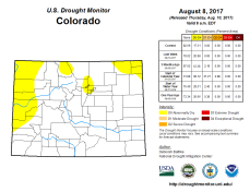 Colorado Drought Monitor August 8, 2017.