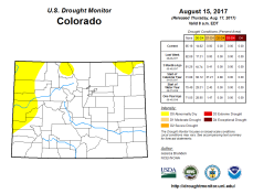 Colorado Drought Monitor August 15, 2017.