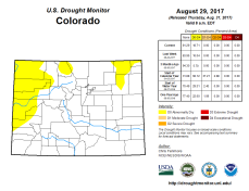 Colorado Drought Monitor August 29. 2017.