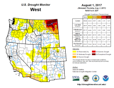 West Drought Monitor August 1, 2017.