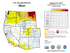 West Drought Monitor August 15, 2017.