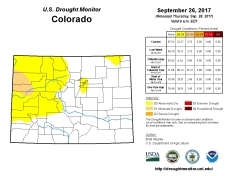Colorado Drought Monitor September 26, 2017.