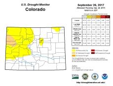 Colorado Drought Monitor September 26, 2017.