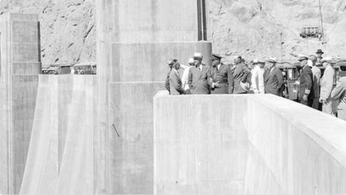 Hoover Dam dedication September 30, 1935. Photo credit U.S. Bureau of Reclamation via the Arizona Department of Water Resources.