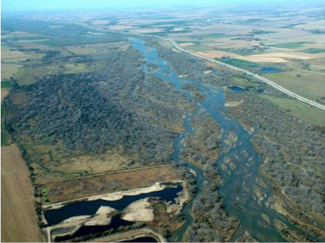 Platte River photo credit US Bureau of Reclamation.
