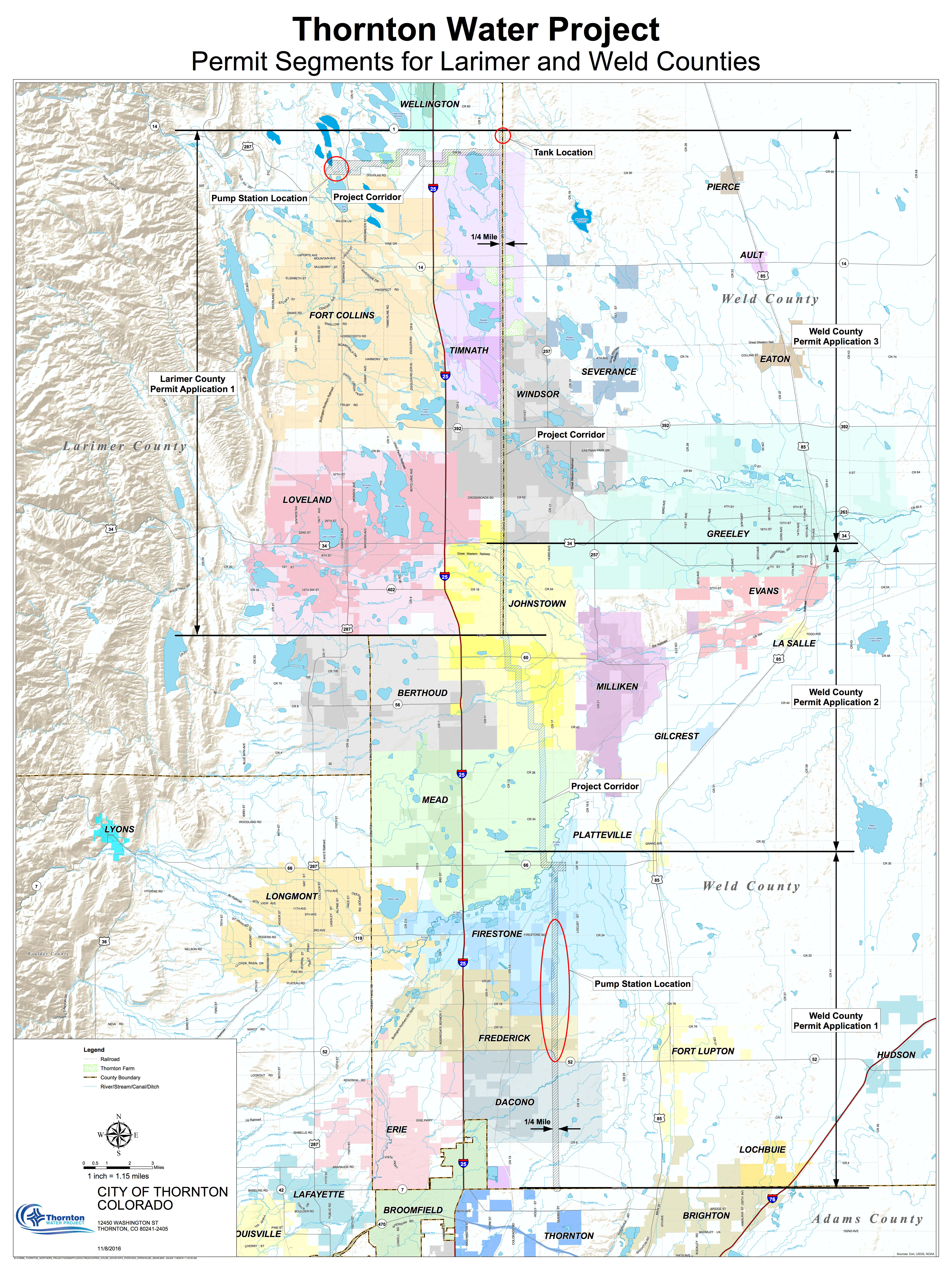 Larimer County Thornton submits 1041 application for pipeline