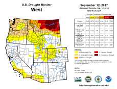 West Drought Monitor September 12, 2017.
