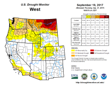 West Drought Monitor September 19, 2017.