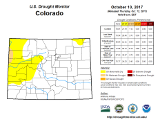 Colorado Drought Monitor October 20, 2017.
