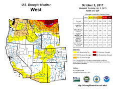 West Drought Monitor October 3, 2017.