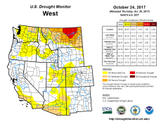 West Drought Monitor October 24, 2017.