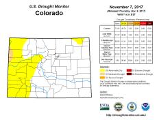 Colorado Drought Monitor November 7, 2017.