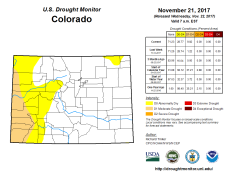 Colorado Drought Monitor November 21, 2017.