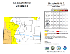 Colorado Drought Monitor November 28, 2017.