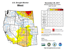 West Drought Monitor November 28, 2017.