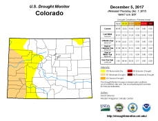 Colorado Drought Monitor December 5, 2017.