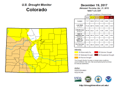 Colorado Drought Monitor December 19, 2017.