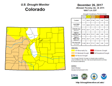 Colorado Drought Monitor December 26, 2017.