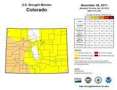 Colorado Drought Monitor December 26, 2017.