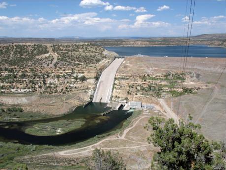 The San Juan River's Navajo Dam and reservoir above.U.S. Bureau of Reclamation