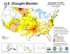 US Drought Monitor December 19, 2017.