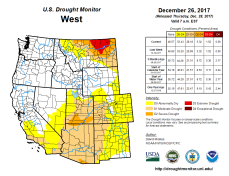 West Drought Monitor December 26, 2017.
