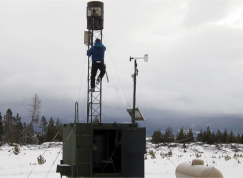 Cloud seeding ground station. Photo credit H2O Radio via the Colorado Independent.