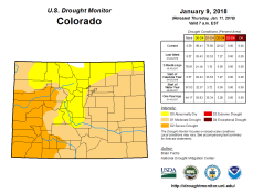 Colorado Drought Monitor January 9, 2018.