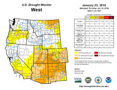 West Drought Monitor January 23, 2018.