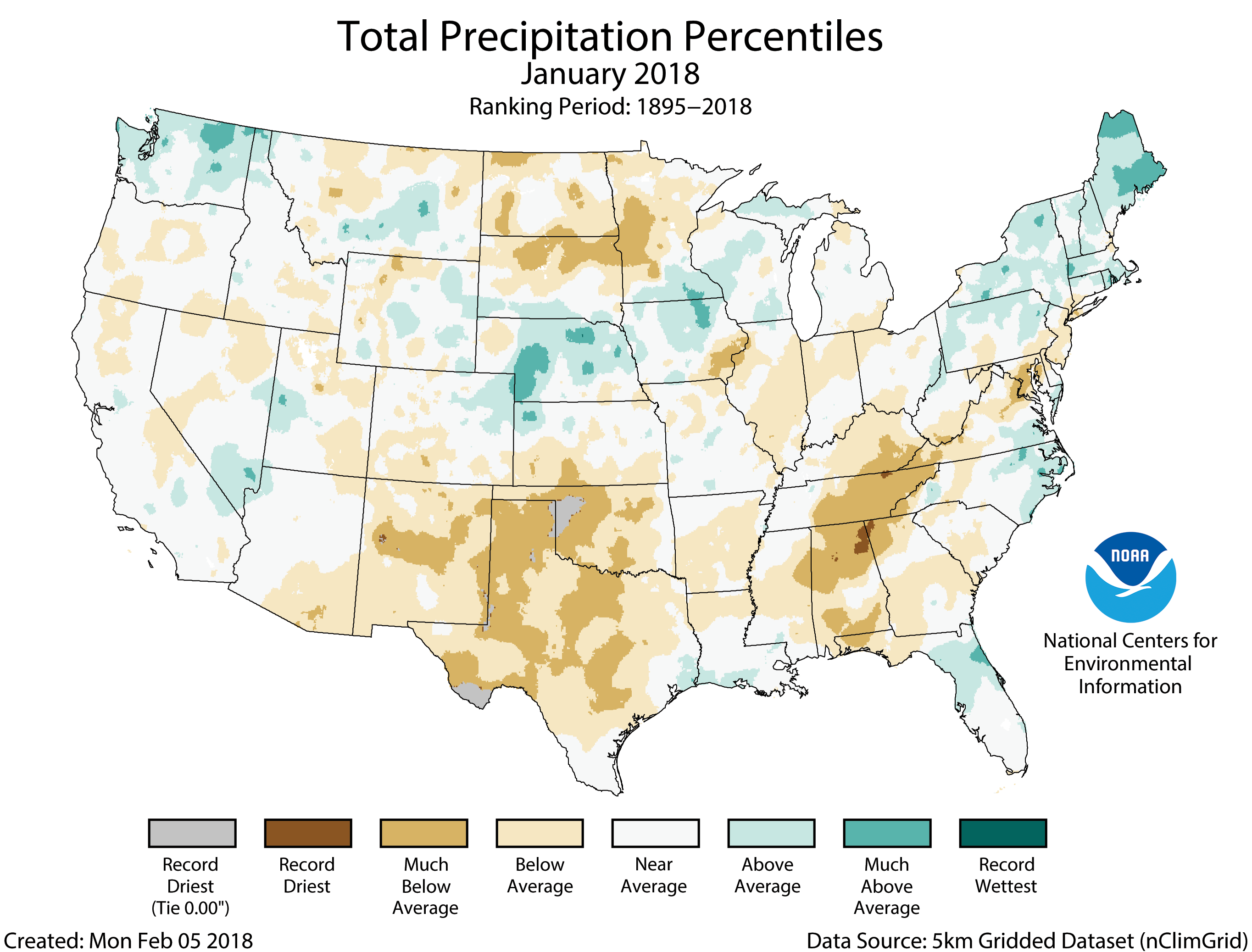 Noaa assessing the us climate in january 2018 coyote gulch during january below average precipitation was observed across large areas of the country including parts of the southwest southern plains sciox Choice Image