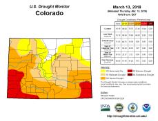 Colorado Drought Monitor March 13, 2018.