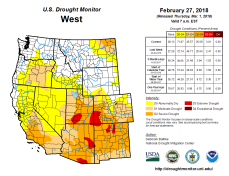 West Drought Monitor February 27, 2018.