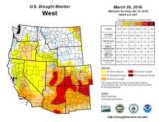 West Drought Monitor March 20, 2018.