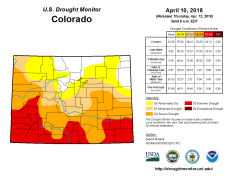 Colorado Drought Monitor April 10, 2018.