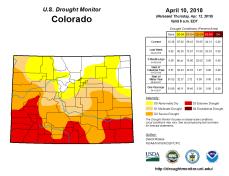 Colorado Drought Monitor April 10, 2018.