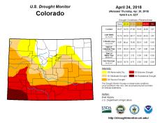 Colorado Drought Monitor April 24, 2018.