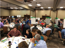 Attendees at the first Ogallala Aquifer Summit, April 9 and 10, Garden City, Kansas, were broken into diversified focus groups by the organizers to better hash out issues that affect all eight states that sit above the aquifer. (Journal photo by Jennifer M. Latzke.)