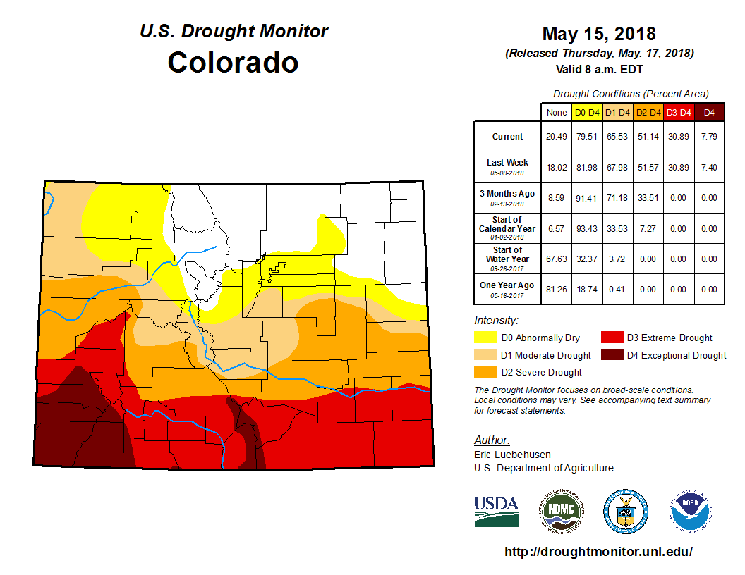 Image result for colorado drought may 2018