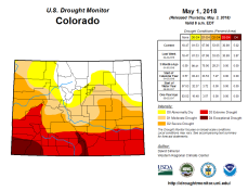 Colorado Drought Monitor May 1, 2018.
