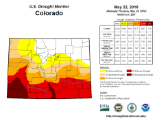 Colorado Drought Monitor May 22, 2018.
