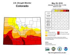 Colorado Drought Monitor May 29, 2018.