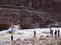 Scouting Upset Rapid, on the Colorado River. Photo: Greg Schaffron