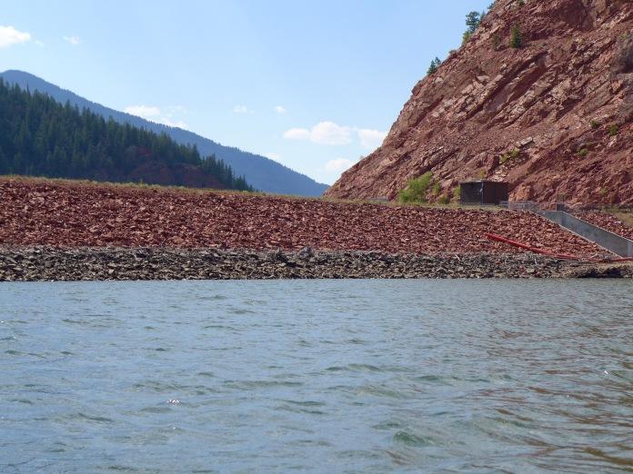 The dam that forms Ruedi Reservoir, above Basalt on the Fryingpan River. Photo: Brent Gardner-Smith/Aspen Journalism