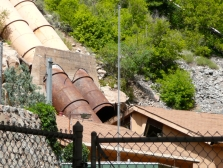 The blown-out penstock in 2007 at the Shoshone plant. Photo credit: Brent Gardner-Smith/Aspen Journalism