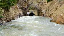 Water from the Roaring Fork River basin heading east out of the end of the Twin Lakes Tunnel (June 2016). Photo: Brent Gardner-Smith/Aspen Journalism