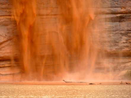 The bottom of a pour over on the Green River. Photo: Brent Gardner-Smith/Aspen Journalism