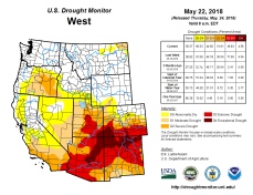 West Drought Monitor May 22, 2018.