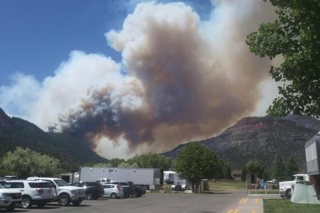 The 416 Fire near Durango, Colorado, ignited on June 1, 2018. By June 21, the wildfire covered more than 34,000 acres and was 37 percent contained. Photo credit USFS via The High Country News