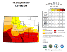Colorado Drought Monitor June 26, 2018.