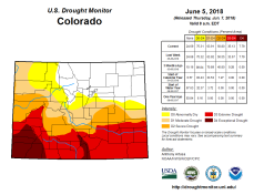 Colorado Drought Monitor June 5, 2018.
